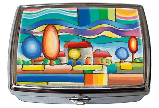 Pill-Box Rectangle, Vienna, Landscape, 57x45x15mm