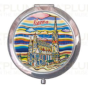 Pocket-Mirror with box, Vienna, St. Stephens, 70x11mm