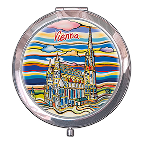 Pocket-Mirror, Vienna, St. Stephens, 70x11mm