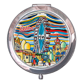 Pocket Mirror, Vienna, Prater, 70x11mm