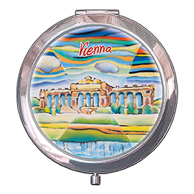 Pocket Mirror, Vienna, Gloriette, 70x11mm