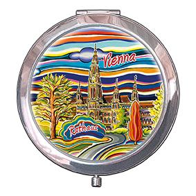 Pocket Mirror, Vienna, Rathaus, 70x11mm