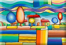 Magnet, Vienna, Landscape, 80x55mm