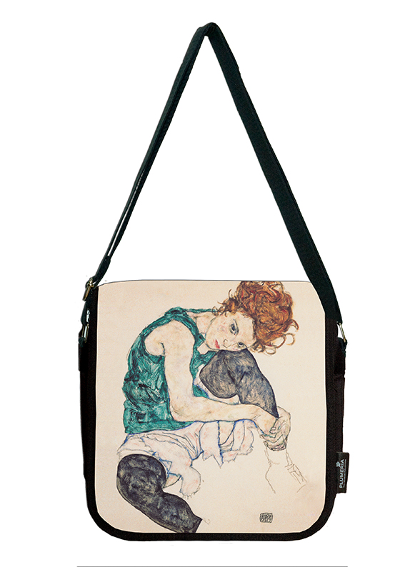 Shoulder Bag, Schiele, Seated Women