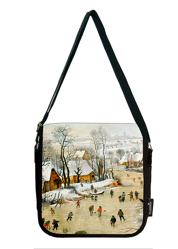Shoulder Bag, Bruegel, Winter landscape