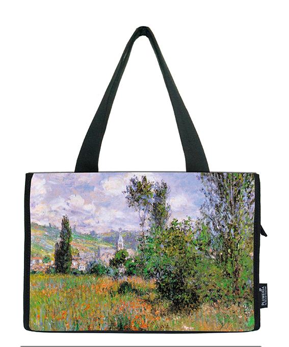 Small Shopper, Monet, View of Vetheuil