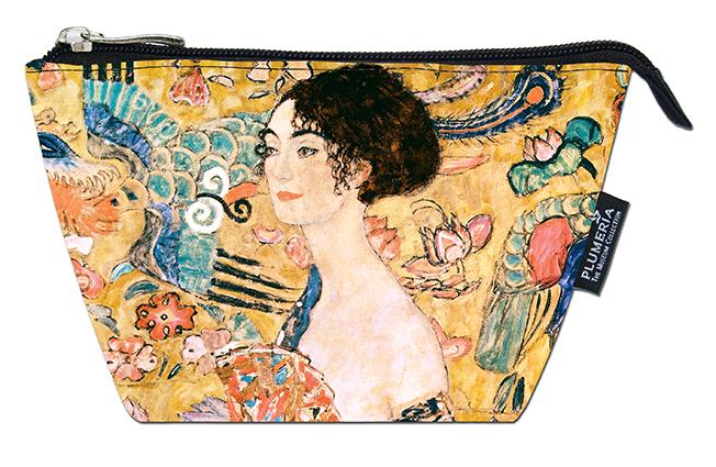 Cosmetic Bag, Klimt, Women with Fan