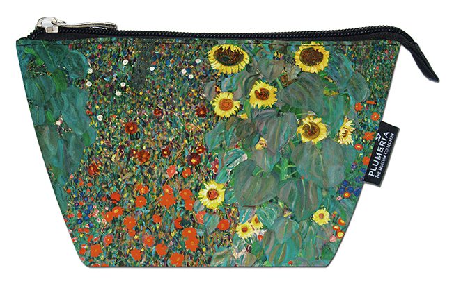 Cosmetic Bag, Klimt, Garden with Sunflowers