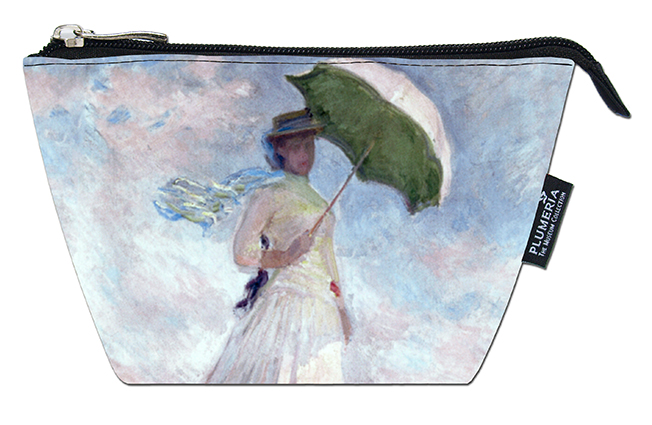 Cosmetic Bag, Monet, Women with Parasol