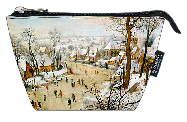 Cosmetic Bag, Bruegel, Winter landscape