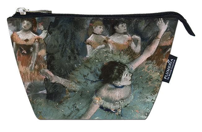 Cosmetic Bag, Degas, Green Dancer