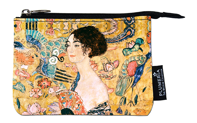 Coin Purse, Klimt, Women with fan