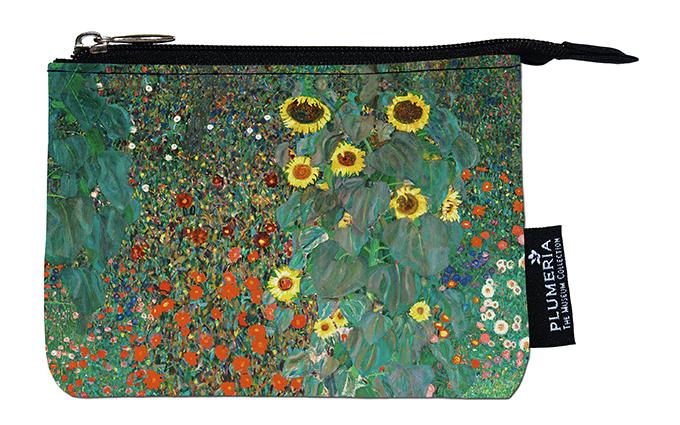 Coin Purse, Klimt, Garden with Sunflowers