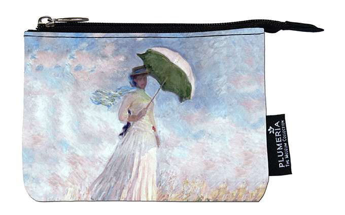 Coin Purse, Monet, Women with Parasol