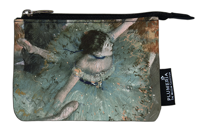 Coin Purse, Degas, Green Dancer