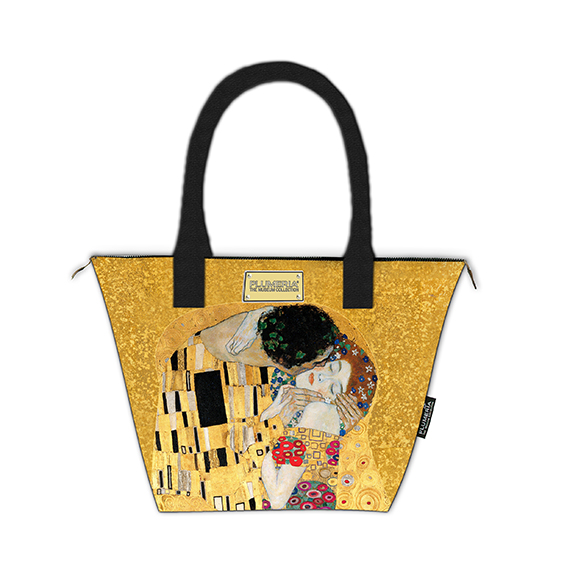 Tote Bag Canvas, Klimt, The Kiss Gold