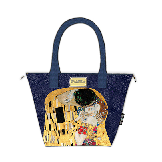 Tote Bag Canvas, Klimt, The Kiss Blue