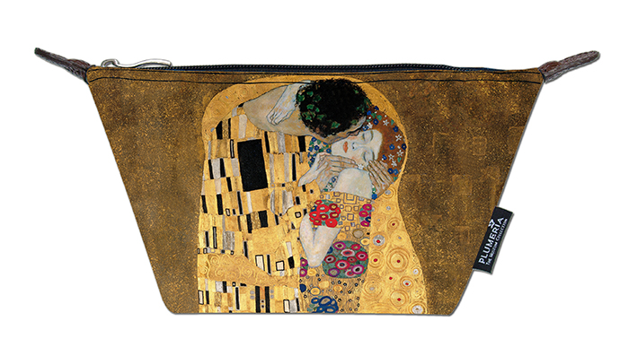 Cosmetic Bag Canvas, Klimt, The Kiss