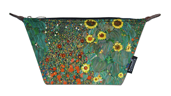 Cosmetic Bag Canvas, Klimt, Garden with Sunflowers