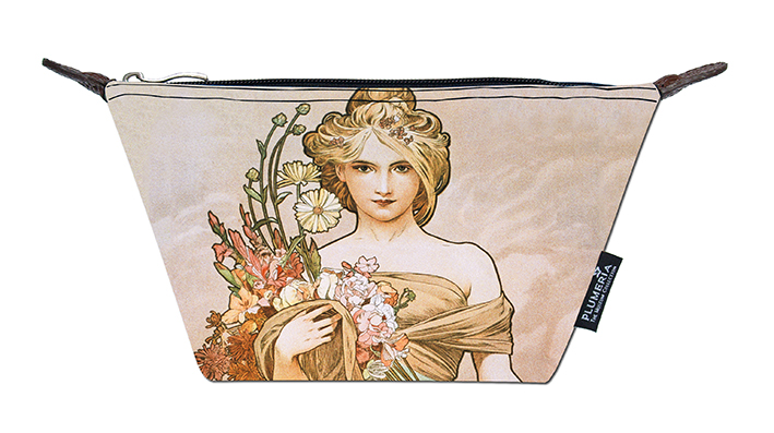 Cosmetic Bag Canvas, Mucha, Spring
