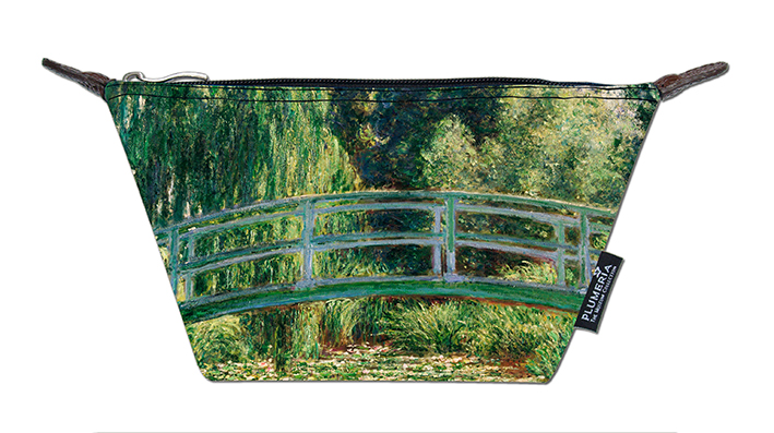 Cosmetic Bag Canvas, Monet, Jap. Bridge
