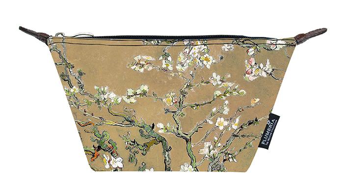 Cosmetic Bag Canvas, Van Gogh, Almond blossom, Gold
