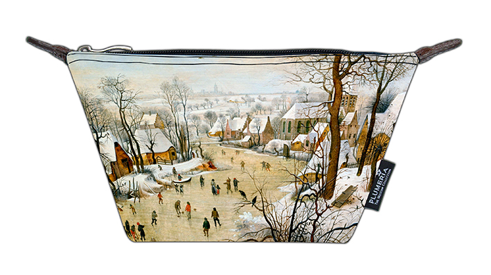 Cosmetic Bag Canvas, Bruegel, Winter landscape
