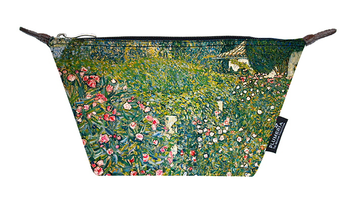 Cosmetic Bag Canvas, Klimt, Italian Garden Landscape