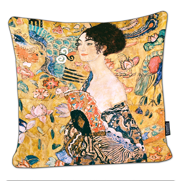 Cushion, Klimt, Women with Fan