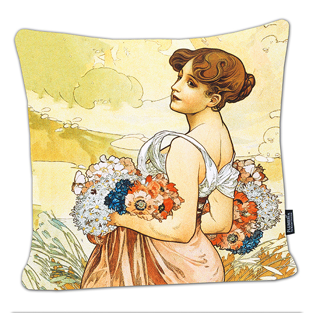 Cushion, Mucha, Summer