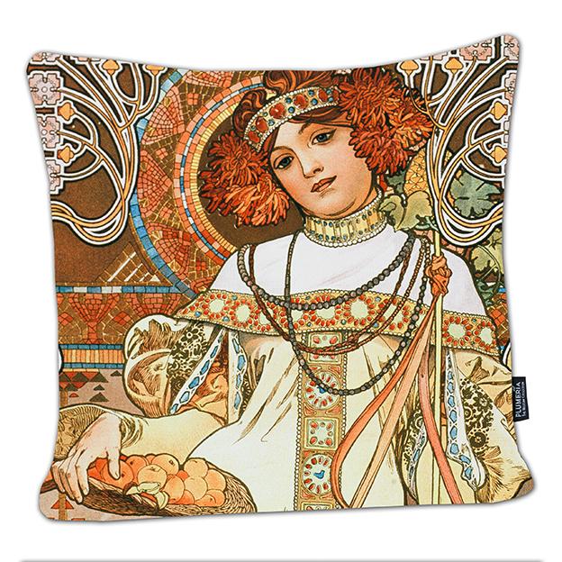 Cushion, Mucha, Autumn