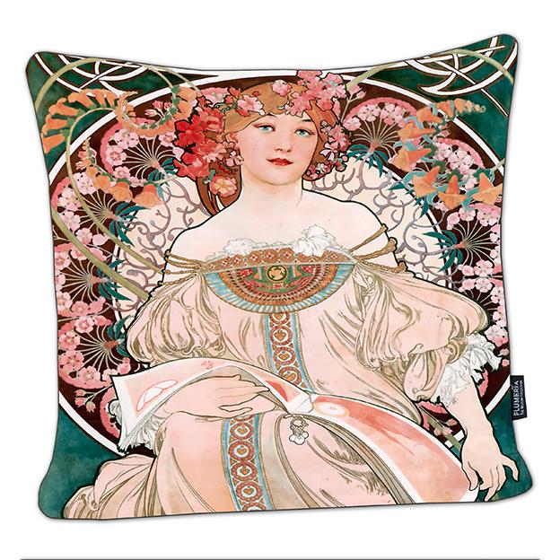 Cushion, Mucha, Reverie