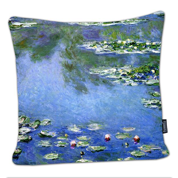 Cushion, Monet, Waterlilies