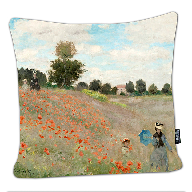 Cushion, Monet, Poppies near Argenteuil