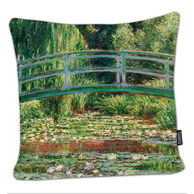 Cushion, Monet, Japanese Bridge