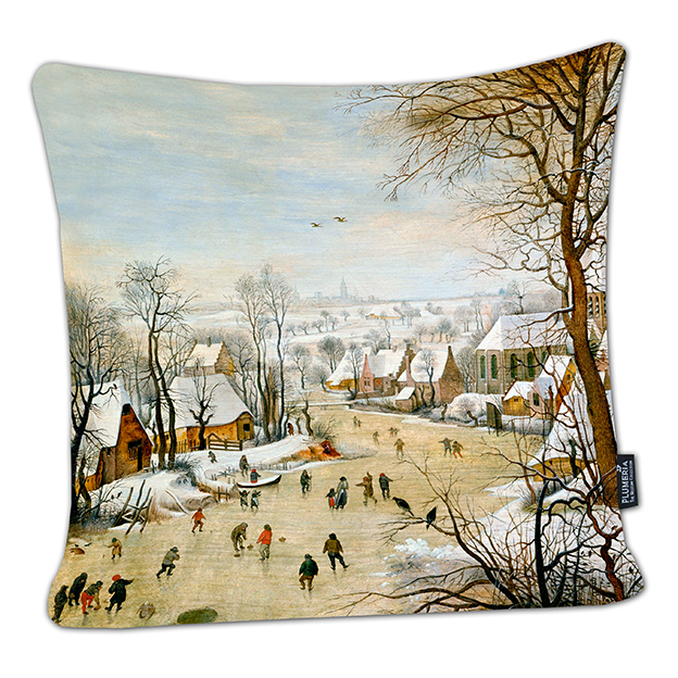 Cushion, Bruegel, Winter Landscape