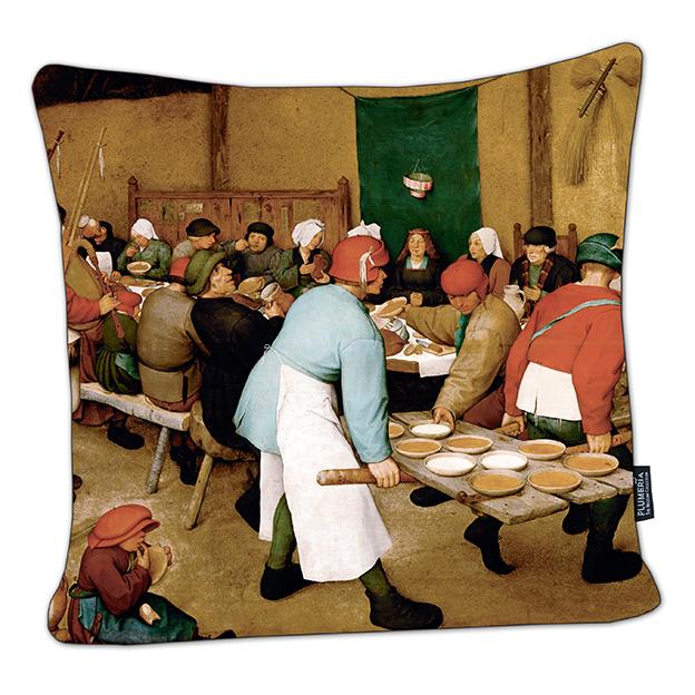 Cushion, Bruegel, Peasant Wedding