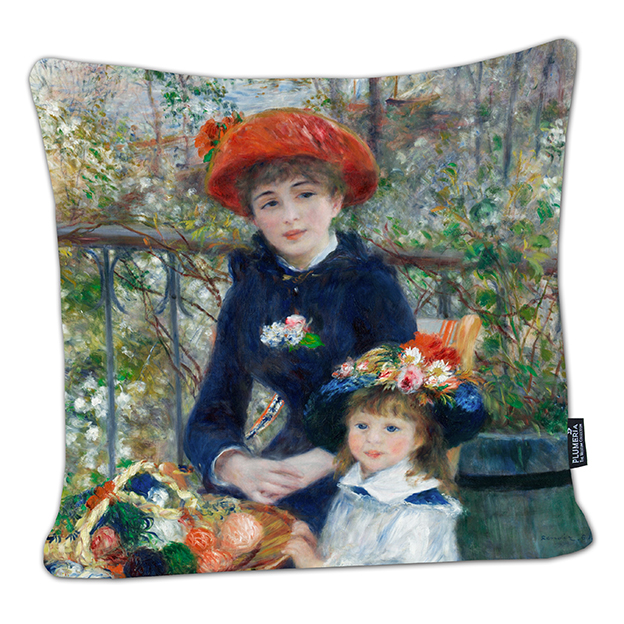 Cushion, Renoir, Two Sisters
