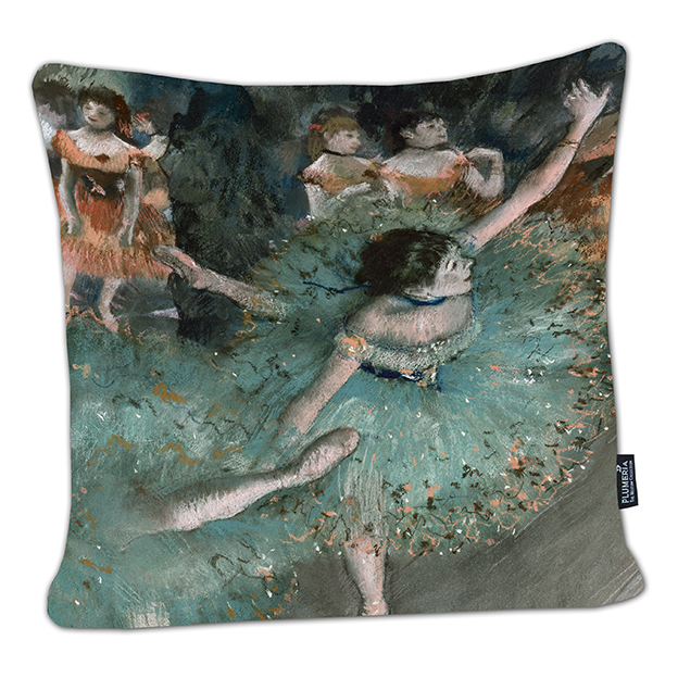 Cushion, Degas, Green Dancer