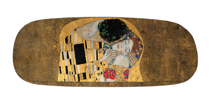 Eyeglasses Case with CC, Klimt, The Kiss Detail