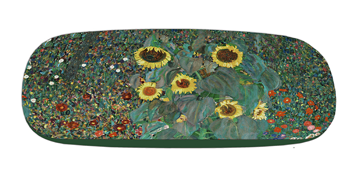 Eyeglasses Case with CC, Klimt, Garden with Sunflowers