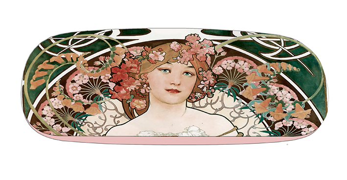 Eyeglasses Case with CC, Mucha, Reverie