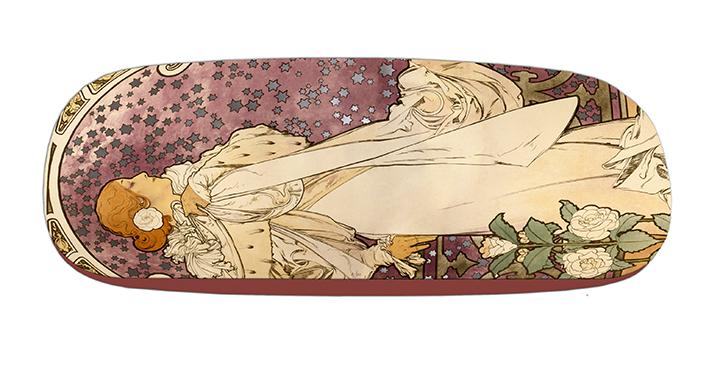 Eyeglasses Case with CC, Mucha, La Dame aux Camelias