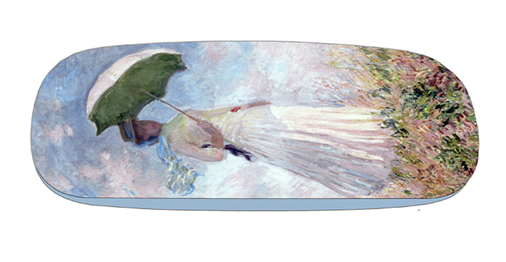 Eyeglasses Case with CC, Monet, Women with Parasol