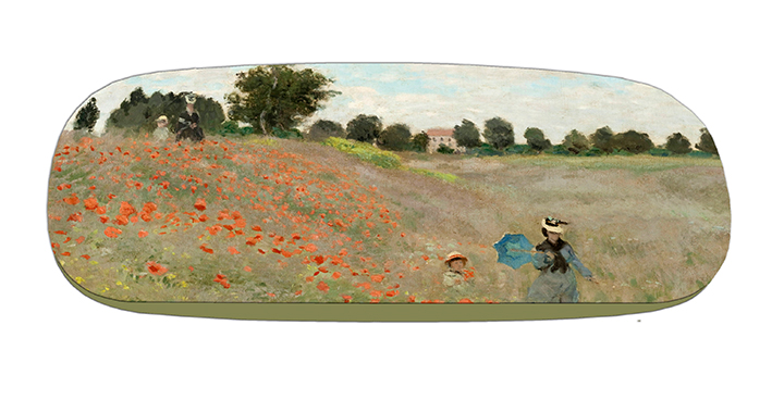 Eyeglasses Case with CC, Monet, Poppies near Argenteuil