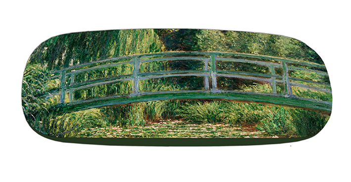 Eyeglasses Case with CC, Monet, Japanese Bridge