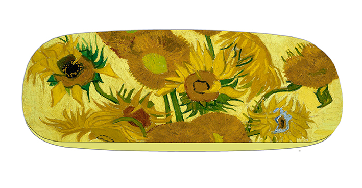 Eyeglasses Case with CC, Van Gogh, Sunflowers