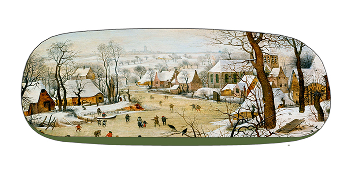 Eyeglasses Case with CC, Bruegel, Winter landscape