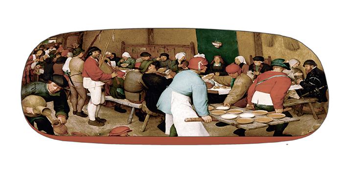 Eyeglasses Case with CC, Bruegel, Peasant Wedding