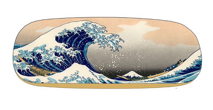 Eyeglasses Case with CC, Hokusai, The Great Wave